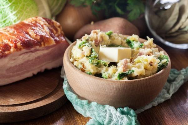 Image ofGebackener Schinken, Kartoffelpüree, Weißkohl