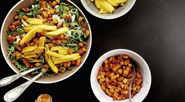 Süßkartoffelsalat mit Mango Rezept