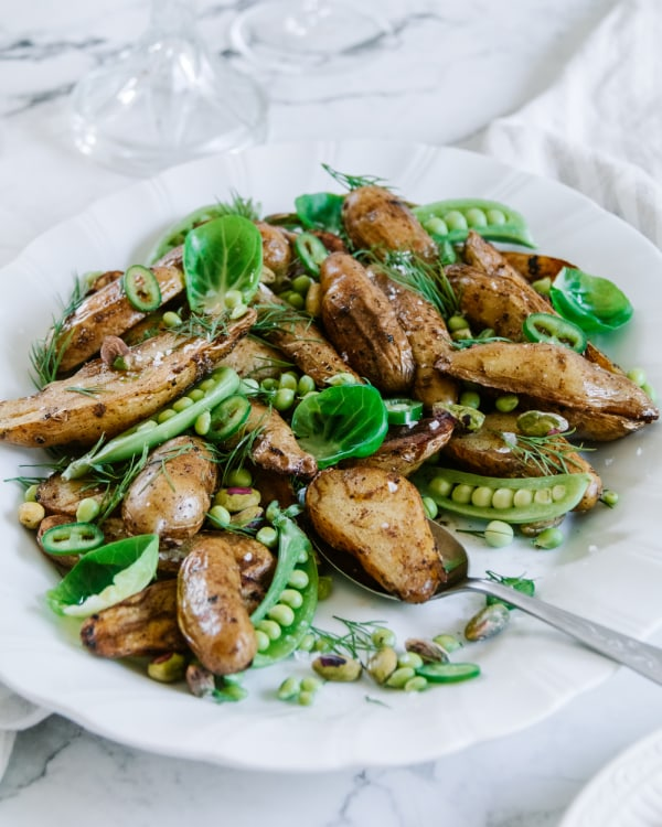 Image of Brown Butter Kipfler Potato Salad with Autumn Greens