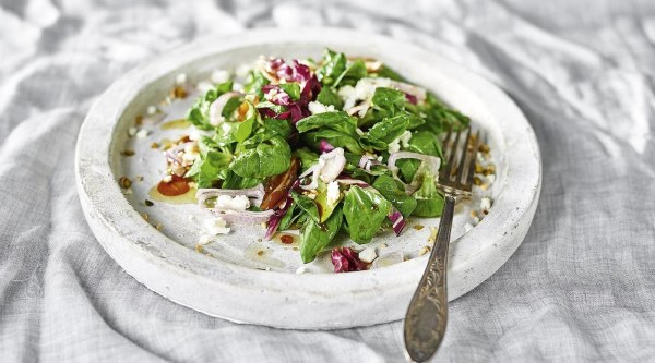 Image of Feldsalat mit Dattel-Speck Crema Rezept