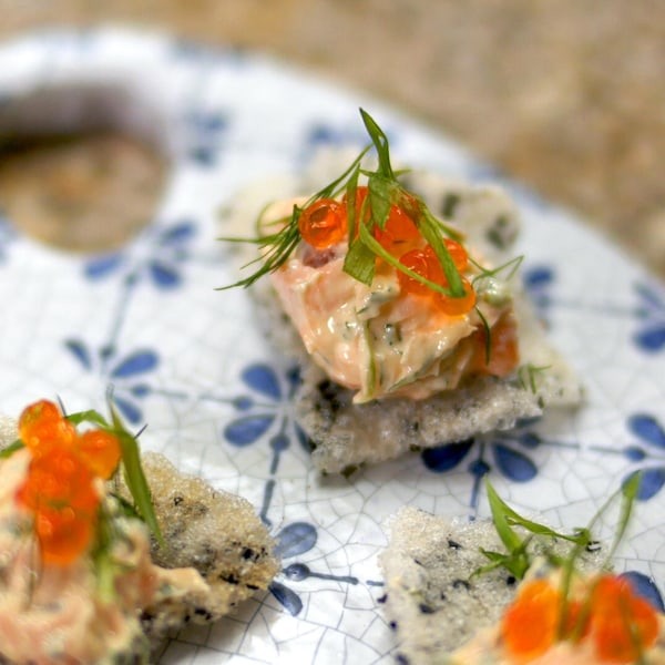 Image ofSalmon Rillettes & Crispy Rice Chips