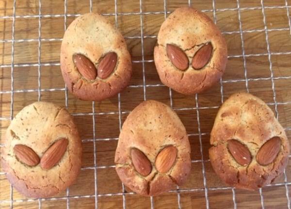 Image of Vegan Triple Almond Easter Cookies