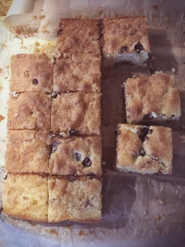 Image ofVanilla Choc Chip Tray Bake