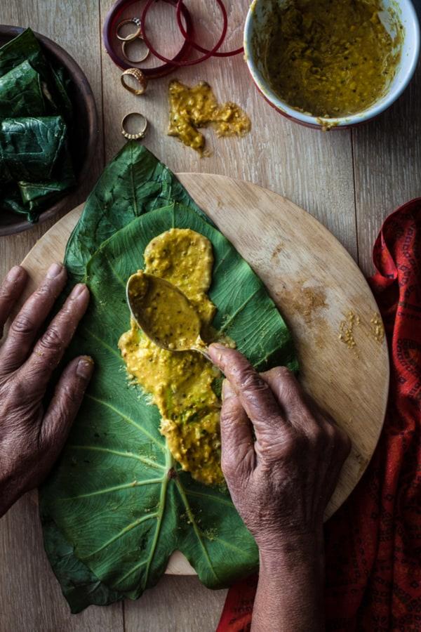 Image ofGujarati Patra, Paatra, Patera, Partraa Recipe