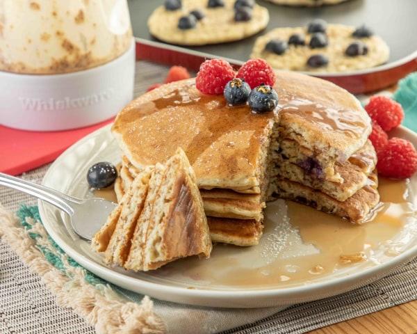 Image ofBlueberry Flax Pancakes