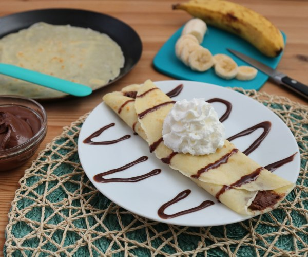 Image ofChocolate Hazelnut Banana Crepes
