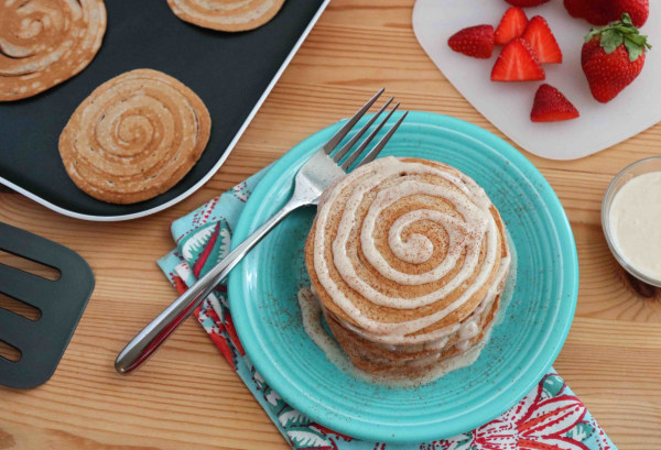 Image of Cinnamon Roll Pancakes