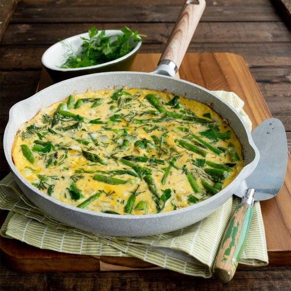 Image of Croatian Fritaja with Fresh Herbs & Asparagus