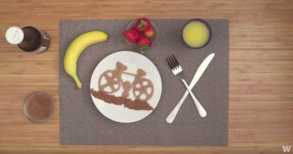 Image ofHow To Make Pancake Art: Bicycle