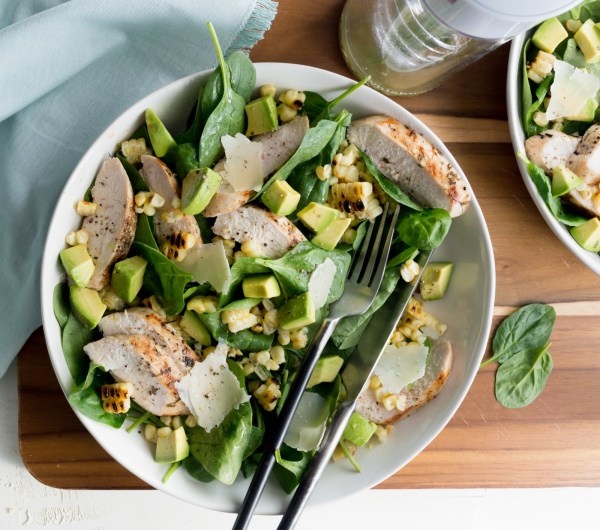 Image ofGrilled Chicken and Corn Salad with Avocado
