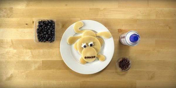 Image ofHow To Make Pancake Art: Monkey
