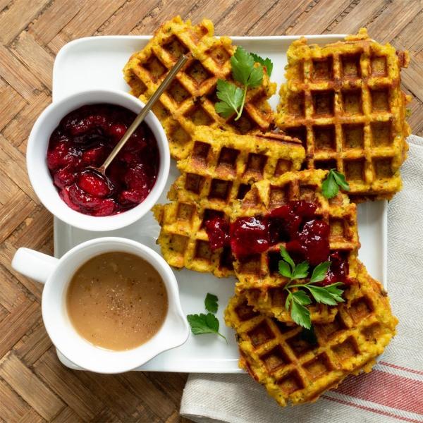 Image ofLeftover Stuffing Waffles