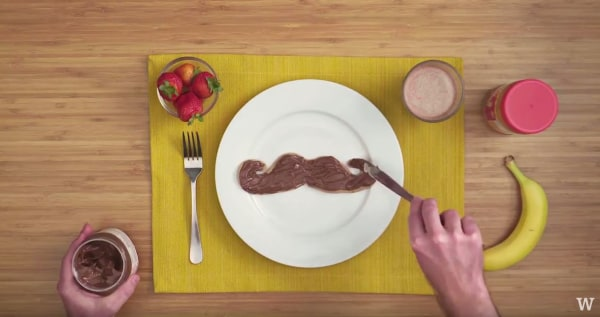 Image ofHow To Make Pancake Art: Mustache