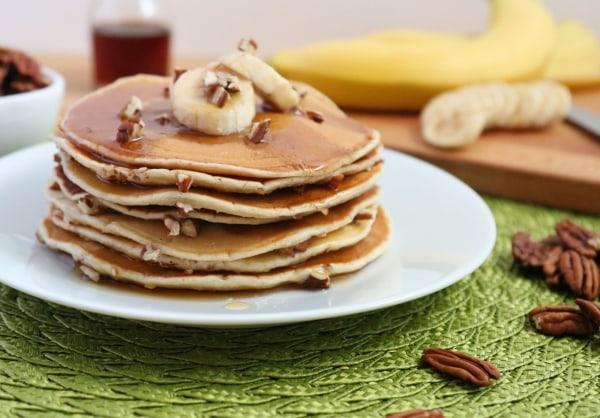 Image ofPecan Banana Cinnamon Pancakes