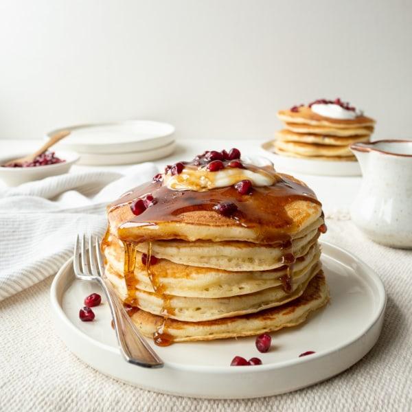 Image of Pomegranate Yogurt Pancakes