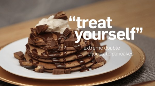 Image ofTreat Yourself Extreme Double Chocolate Pancakes
