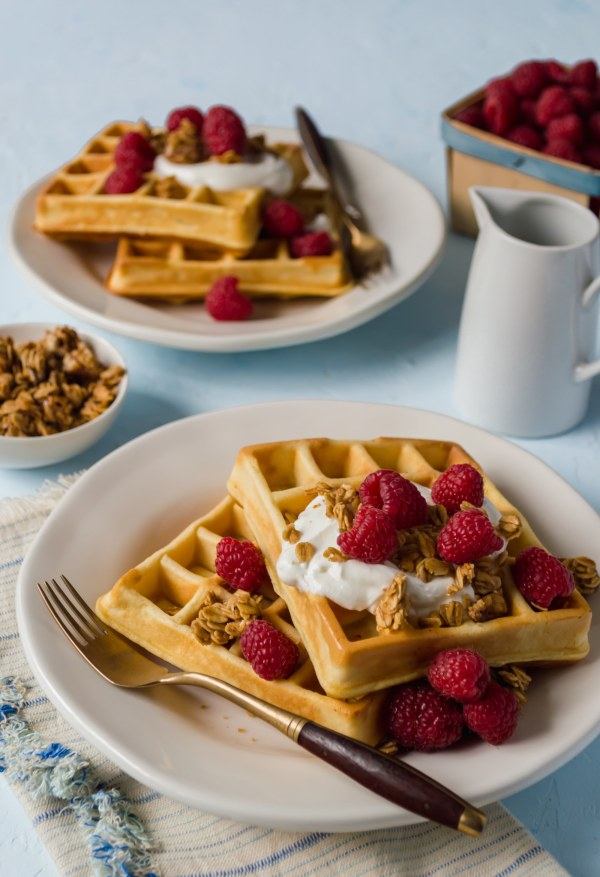 Image ofRaspberry Yogurt Waffles