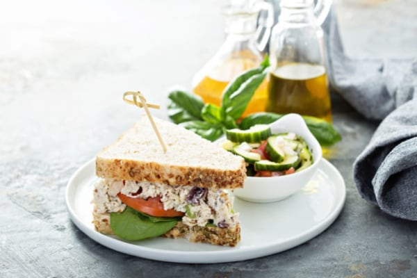 Delicious chicken salad sandwich
