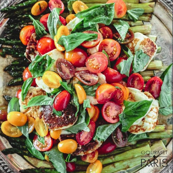 Image ofRoasted Asparagus Salad with Tomato and Basil