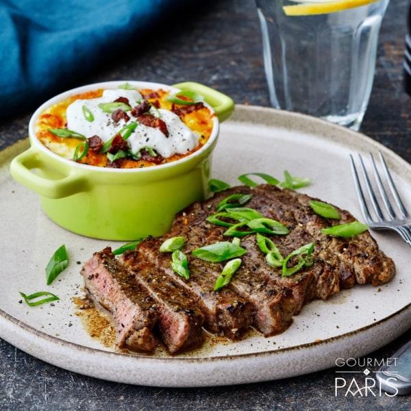 Image ofRibeye Steak with Loaded Cauliflower Mash