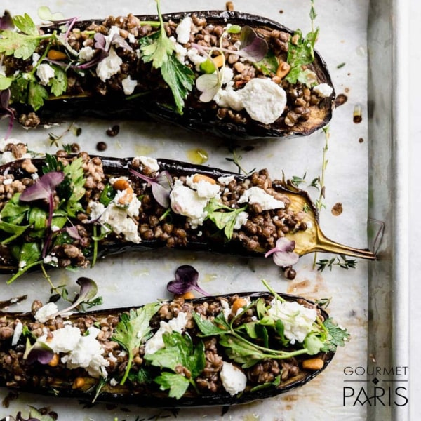 Image ofRoasted Eggplant with Grand Coeur Goat Cheese