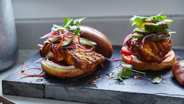Image ofDelicious Tandoori Cod Burgers