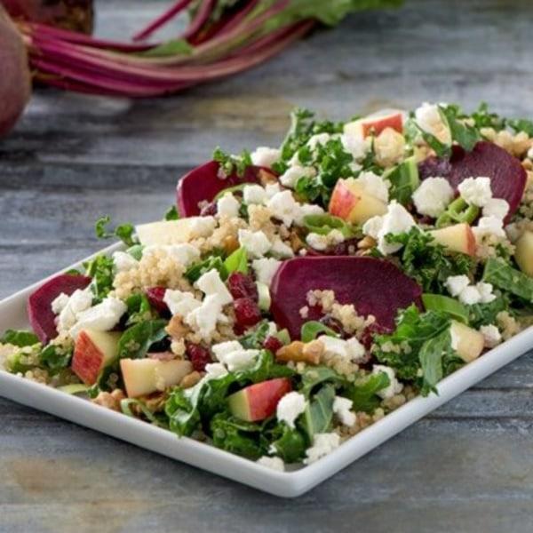Image ofQuinoa Beet Kale Goat Cheese Salad