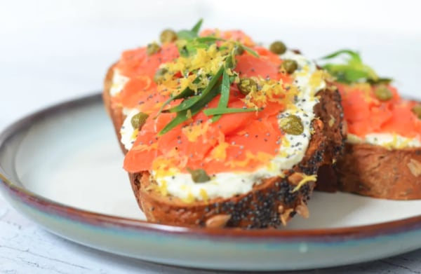 Image ofTasty Smoked Salmon Toast
