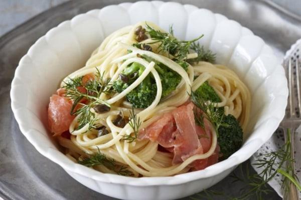 Image ofSmoked salmon spaghetti