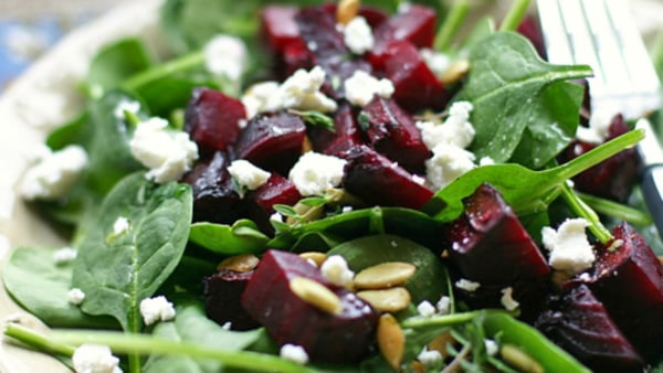 Image ofRoasted beetroot & goat's cheese salad