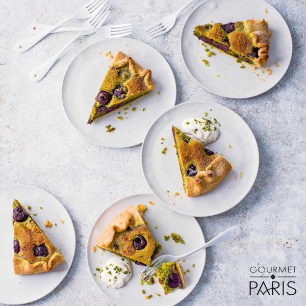 Image ofCherry and Pistachio Bakewell Galette