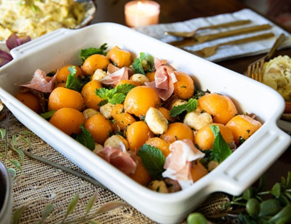 Image ofMelon and Mozzarella Caprese Salad