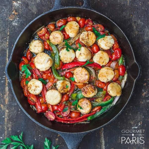 Image ofEasy Mediterranean-Style Scallops
