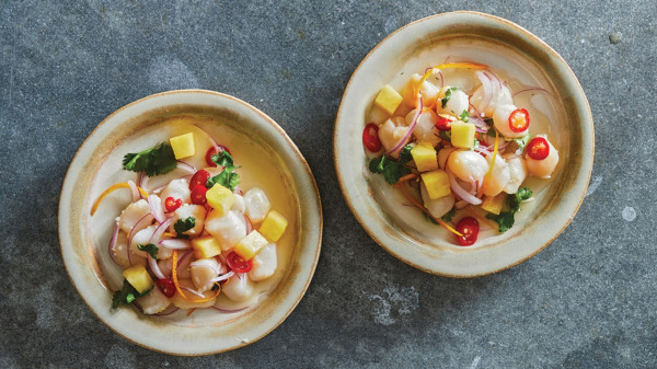 Image ofPineapple-Lime-Ginger Scallop Ceviche