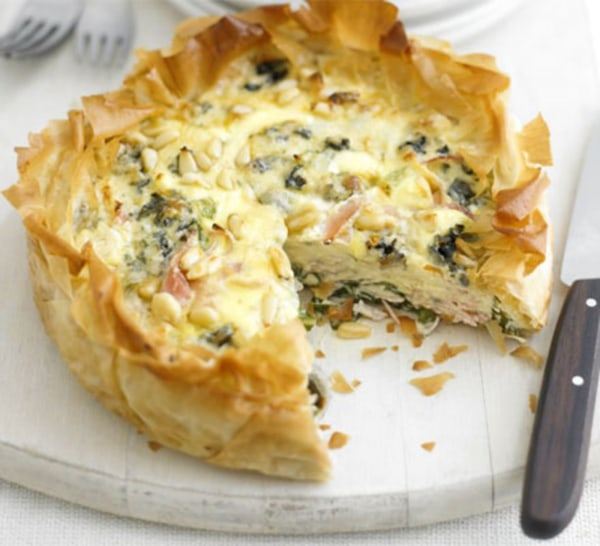 Image of Ham & blue cheese tart