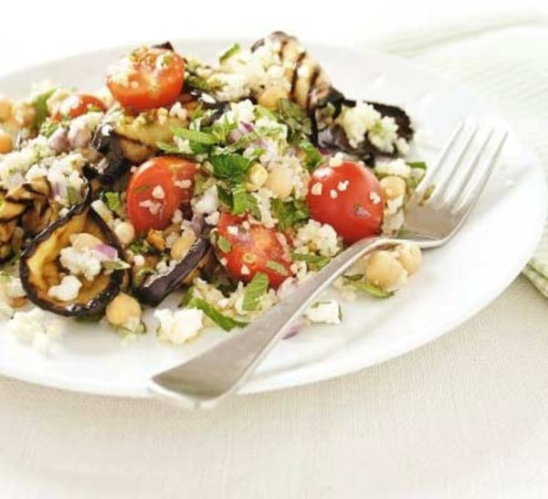 Image ofFeta Tabbouleh with Aubergines