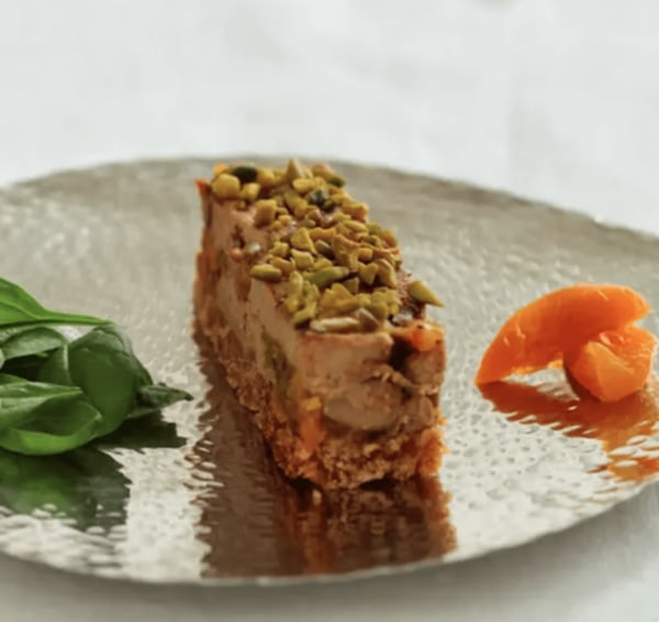 Image ofMarbled Foie Gras with Pistachios, Apricots, and Gingerbread