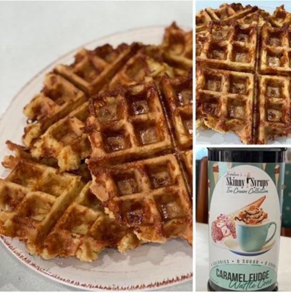 Image ofCaramel Fudge Waffle Cone Waffles