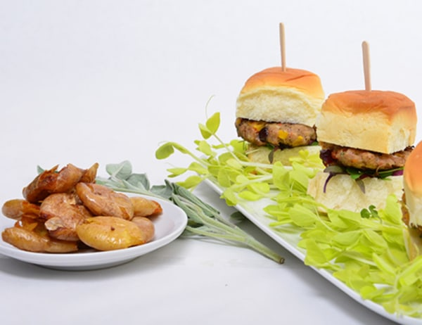 Image of  Thanksgiving Turkey Burger Sliders with Twice Fried Smashed DYP's®