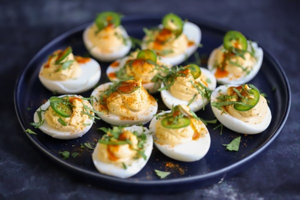 Image of Elote Loco Deviled Eggs