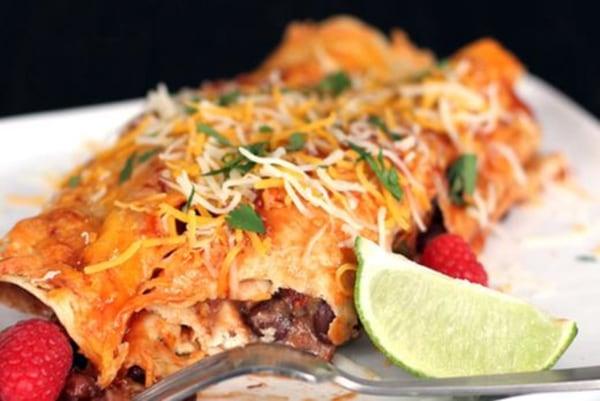 Image ofChipotle Raspberry Chicken Enchiladas