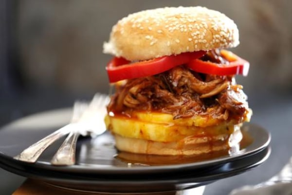 Image ofPineapple and Habanero Slow Cooker Pulled Pork