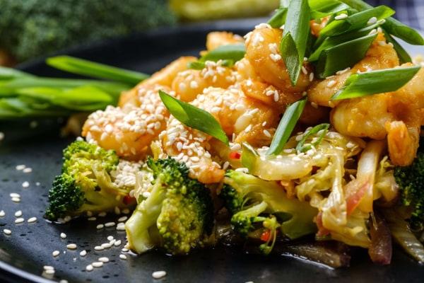 Keto Thai Spicy shrimp Cabbage & Broccoli