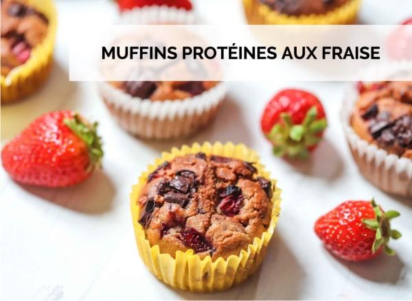 Image ofMUFFINS PROTÉINES AUX FRAISES