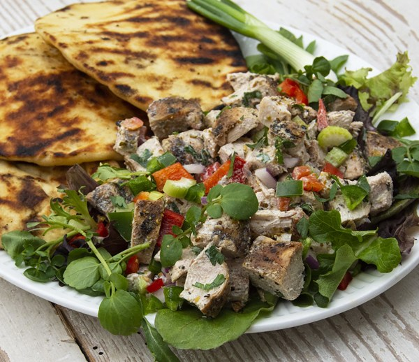 Image of Big Green Egg: Smoked Curried Chicken Salad
