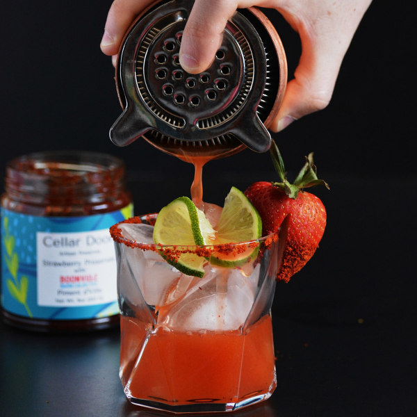 Image of Cellar Door Strawberry and Piment d'Ville Preserve Spicy Margarita