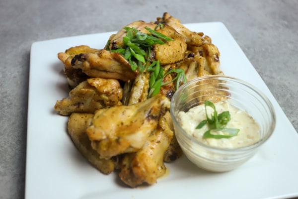 Image ofGrilled Honey Ale Wings with Truffle Mustard