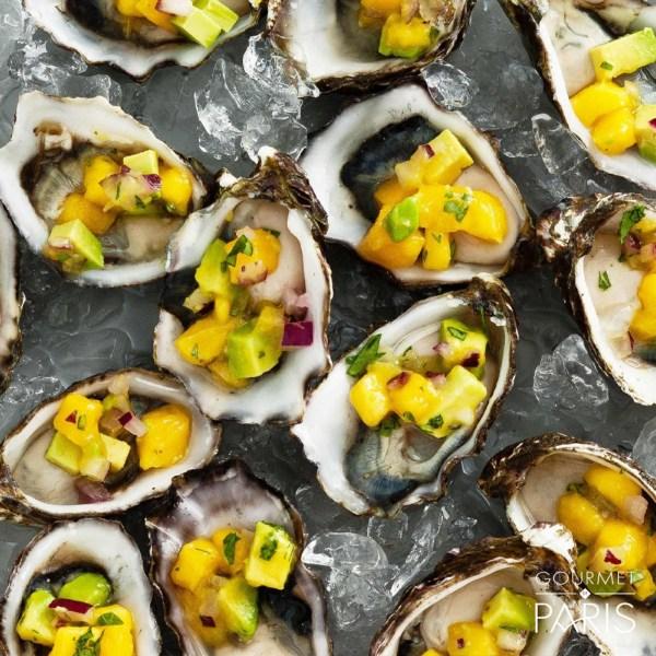 Image ofOysters with Mango Salsa