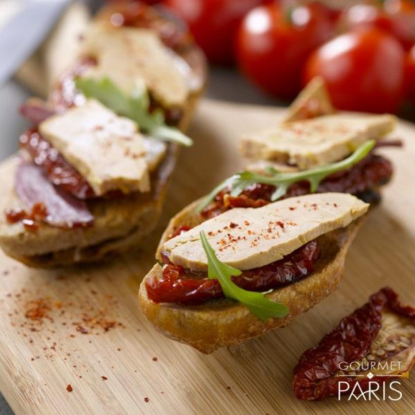 Image ofPan-fried Foie Gras on Tomato Bruschetta