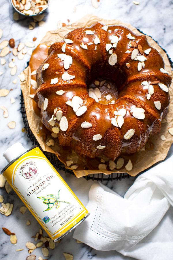 Image ofAlmond Bundt Cake With Caramel Icing